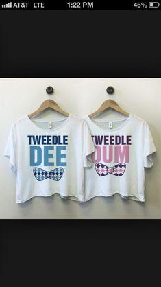 Tweedle Dee Bow - Bestie Shirts - Ideas of Bestie Shirts - Best Friend Matching Shirts, Best Friend T Shirts, Matching Disney Shirts, Best Friend Outfits, Best Friend Clothes, Bff Clothes, Matching Clothes, Bff Shirts, Pyjamas