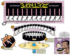 """* Scientist #12 - how to make a zoetrope and watch your own """"movie"""""""