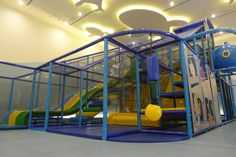 Indoor Playground Equipment designed, manufactured, and installed by International Play Company (Iplayco). This latest one is in Hong Kong at a private club. Soft toddler play area, sport court, large play structure and fun interactive events.