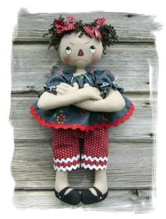 CF269 Pure Sweetness PDF ePattern Cloth Doll by CatAndTheFiddle