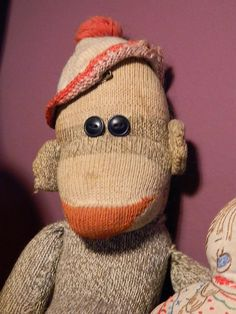 Smiling Old Sock Monkey Photograph -- King Kong's long lost brother