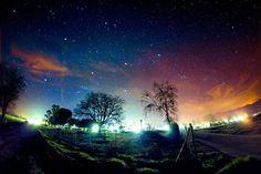 Paisaje Con Estrellas