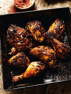 Oven-roasted Chicken with Sumac, Pomegranate Molasses, Chilli and Sesame Seeds - The Happy Foodie - Chicken recipies - Sesame Seeds Recipes, Oven Roasted Chicken, Roast Chicken, Stuffed Chicken, Rotisserie Chicken, Fried Chicken, Poached Chicken, Lime Chicken, Pomegranate Molasses