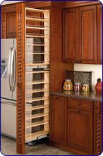The space around the fridge becomes a pantry! #kitchensource #pinterest #followerfind
