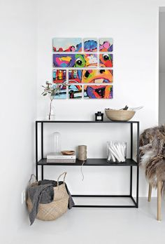 Vrolijk Schilderij Ogu™ Art Collection   Ogu™ Mini (60x60cm) • Koe Amsterdam - by Vrolijk Schilderij