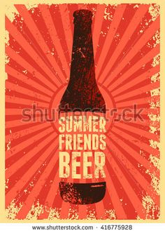 Typographic Vintage Grunge Beer Poster Retro Vector Illustration