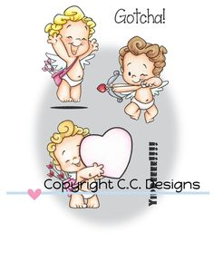 Cupids Clear Stamp Set Angel Cartoon, Cool Clipart, Baby Animal Drawings, Valentines Illustration, Valentine Images, Belly Painting, Paper Piecing Patterns, Saint Valentine, Sugar Art