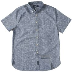 Portsmouth Printed Chambray Short Sleeve Shirt - Clover Print