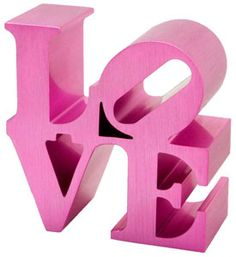 all you need is love. artist robert indiana's iconic love sculpture, in the collection of the indianapolis museum of art, reproduced in brushed aluminum