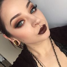 NYX High Voltage Dirty Talk - THIS is the way to wear this color...looks so beautiful here. This girl's makeup looks is life!