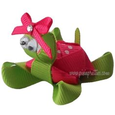 Turtle Ribbon Sculpture Hair Clip