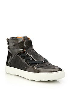 Bally Osmond Mixed Media High-Top Sneakers