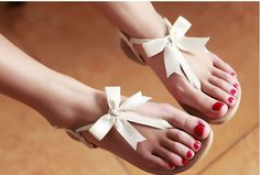 Leather Flip Flat Sandals de Edlwise sur DaWanda.com