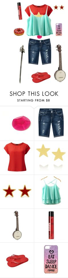 """Stevonnie-Steven Universe"" by conquistadorofsorts ❤ liked on Polyvore featuring Amethyst Jeans, Jennifer Meyer Jewelry, George & Laurel and Sexy Hair"