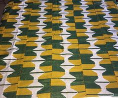 Kente woven fabric/ Ashanti kente / Tradition kente fabric/ Green kente in style/Wedding Kente/Kente ribbon/Hand woven Kente/ Africa Kente/