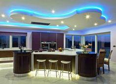 Colorful Modern Kitchen Island Design