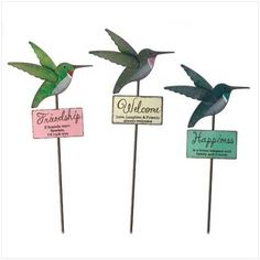 Superb Hummingbird Garden Stakes
