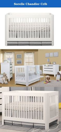 Sorelle Chandler Crib. Create a simple, modern look in your child's nursery with the Sorelle Chandler Crib White. Beautifully designed, this baby crib is crafted from New Zealand Pine and finished in a classic white which goes with any nursery decor. You'll love its clean lines and smooth, rounded corners which add a touch of elegance. Its lower height makes it simple for you to reach your baby from any side of the crib. Simple and beautiful, you'll love the modern style this white crib…
