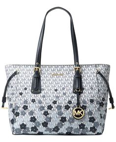 0368fcde27032 Michael Kors Voyager Signature Floral Medium Tote   Reviews - Handbags    Accessories - Macy s