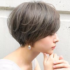 The Most Beautiful Wedding Hairstyles Short Choppy Hair, Asian Short Hair, Short Grey Hair, Short Hair Cuts, Stacked Bob Hairstyles, Short Hairstyles For Women, Cool Hairstyles, Wedding Hairstyles, I Like Your Hair