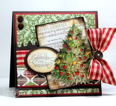 Terrific layers and blend of patterns. #cards #card_making #Christmas