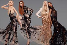 Roberto Cavalli Spring/Summer 2012 Advertising Campaign - Naomi Campbell, Karen Elson, Kristen McMenamy and Daphne Groeneveld