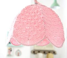 crochet lamp shade  Baby Pink by babytogo on Etsy, $90.00