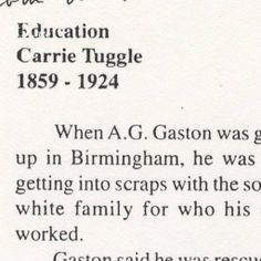 Education Carrie Tuggle, 1859-1924 :: Newspaper Clippings