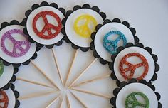 cupcake toppers for world peace day in Sept