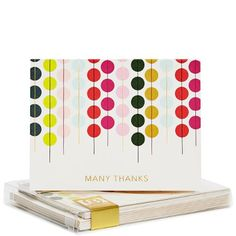 Lots of Dots Giotto Thank You Note Cards Set by Snow and ...