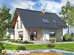 Dom w miłowonkach Modern House Plans, Modern House Design, Design Case, Home Decor Kitchen, Home Fashion, Gazebo, Outdoor Structures, Cabin, Architecture
