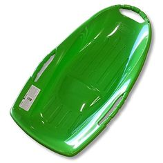 Snow Runner 36 Green Plastic Snow Sled with Bottom Grooves >>> Find out more about the great product at the image link. (This is an affiliate link)
