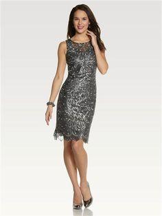 Metallic Lace Shift Dress Petite Dresses, Formal Dresses, Metallic Lace, Shopping, Style, Women, Fashion, Latest Fashion, Dresses For Formal