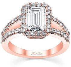 Cushion Cut Diamond Engagement Rings Rose Gold 25