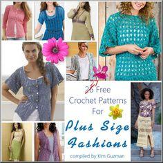 *27* Free Crochet Patterns for Plus Size Fashions | Link Blast Women's Clothing http://kimguzman.com/blog/link-blast-plus-size-fashions/