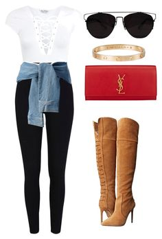 Untitled #371 by amoney-1 on Polyvore featuring polyvore, fashion, style, River Island, Miss Selfridge, DKNY, Jessica Simpson, Yves Saint Laurent, Cartier and clothing
