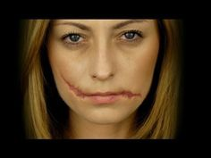 Easy Ripped Mouth Makeup for Halloween