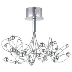 "$450 Othello Chrome Ten-Light Semi Flush Mount63""W x 10""H:  10 - 20 wat"