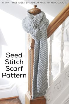 Free seed stitch scarf pattern. So soft and wonderful.