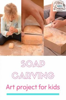 This soap carving activity is great for kids of all ages. It's the perfect art project for kindergarten! Diy Projects For Kids, Art Projects, Soap Carving, Art For Kids, Kindergarten, Activities, Learning, Crafts, Art For Toddlers