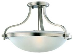 Seagull Eternity Semi-Flush Mount Ceiling Fixture in Brushed Nickel - Contemporary - Ceiling Lighting - Hansen Wholesale