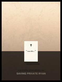 Saving Private Ryan (1998) ~ Minimal Movie Poster by Andre Perera #amusementphile