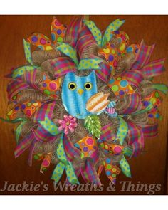 Hoot hoot Wreath | CraftOutlet.com Photo Contest - by Jackie's Wreaths & Things