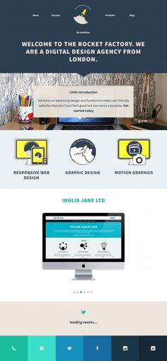 The Rocket Factory - a Digital design Agency - Webdesign inspiration www.niceoneilike.com