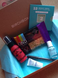 Birchbox April 2014 includes: Sumita Color Contrast Eyeliner (Jamun {Deep Purple} ), Beauty Protector Protect & Detangle (<3 this!), Supergoop! Daily Correct CC Cream, Color Club Gala's Gems Collection (Aquamarine Azulino), & lifestyle extra - KIND Healthy Grain Bar - Sign up for your Birchbox today using link--> https://www.birchbox.com/invite/amanda