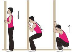 Встань в проеме двери, взявшись руками за косяк. Опустись в глубокий присед, держа поясницу округленной. А теперь поднимайся, сохраняя расслабление промежности, поясницы и живота. Держись руками за косяк двери, подтягивайся, ищи, какие мышцы задействовать для подъема, только поднимись, сохраняя расслабление трех указанных областей. В процессе должно появиться приятное ощущение в области промежности. Упражнение начинает получаться. Сделай 10 приседаний, отдохни и повтори сет