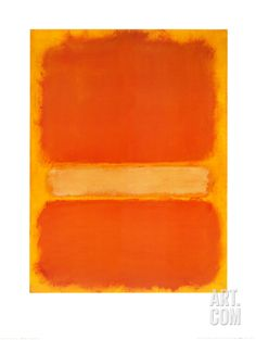 Mark Rothko - Untitled, 1956 (Orange on Yellow) Mark Rothko Paintings, Rothko Art, Famous Abstract Artists, Abstract Painters, Frame My Photo, Framed Art Prints, Framed Wall, Wall Art, Wall Collage