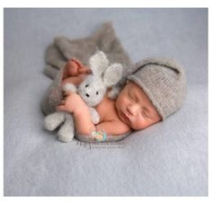 Your place to buy and sell all things handmade Hand knit mini bunny rabbit newborn photography prop Always wanted to learn how to knit, however unsure the place to sta. Foto Newborn, Newborn Posing, Newborn Photography Props, Newborn Photo Props, Newborn Session, Baby Boy Newborn, Photography Outfits, Baby Boy Photos, Newborn Pictures