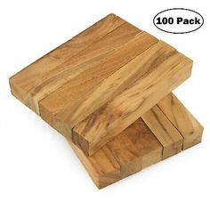 100 Legacy Highly Figured Teak Wood Pen Turning Blanks, x x