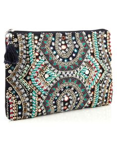 Indigo mirror clutch
